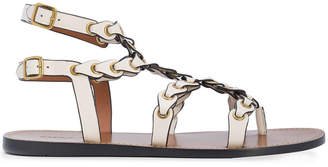Coach strappy flat sandals