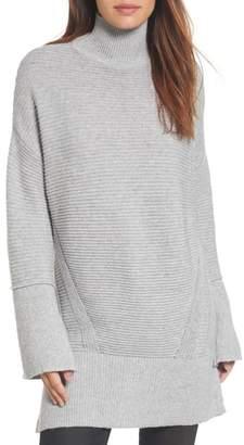 Caslon Ribbed Turtleneck Tunic Sweater