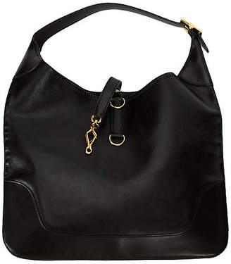 One Kings Lane Vintage HermAs Large Black Shoulder Bag - Vintage Lux