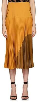 Fendi Women's Pleated Silk Midi-Skirt