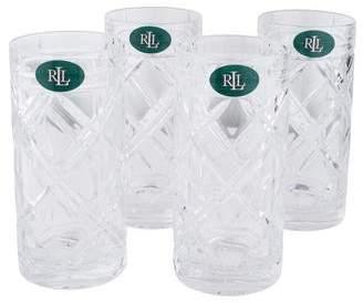 Ralph Lauren Set of 4 Brogan Classic Highball Glasses