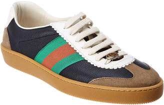 Gucci Web Leather & Suede Sneaker