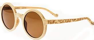 Earth Wood Canary Wood Sunglasses Polarized Round