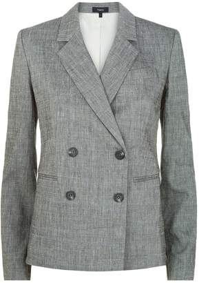 Theory Double Breasted Linen Blazer