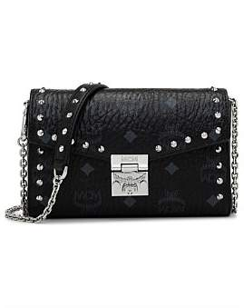 MCM Millie Studded Visetos Small Crossbody