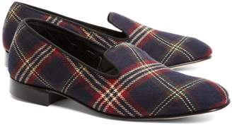 Brooks Brothers Signature Tartan Wool Slippers