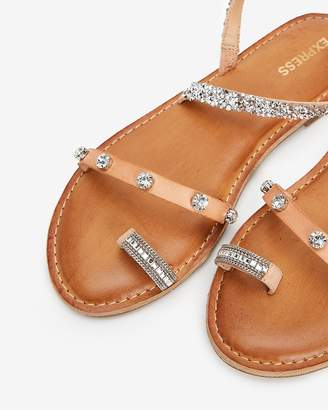Express Asymmetrical Embellished Toe Ring Sandals