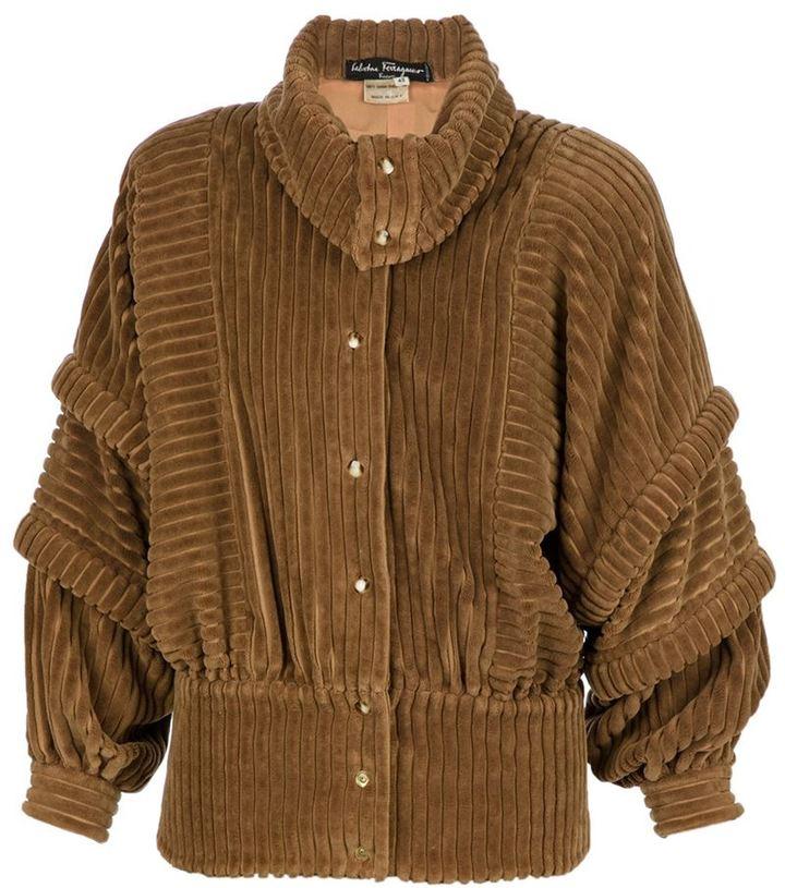 Salvatore Ferragamo Vintage thick corduroy jacket