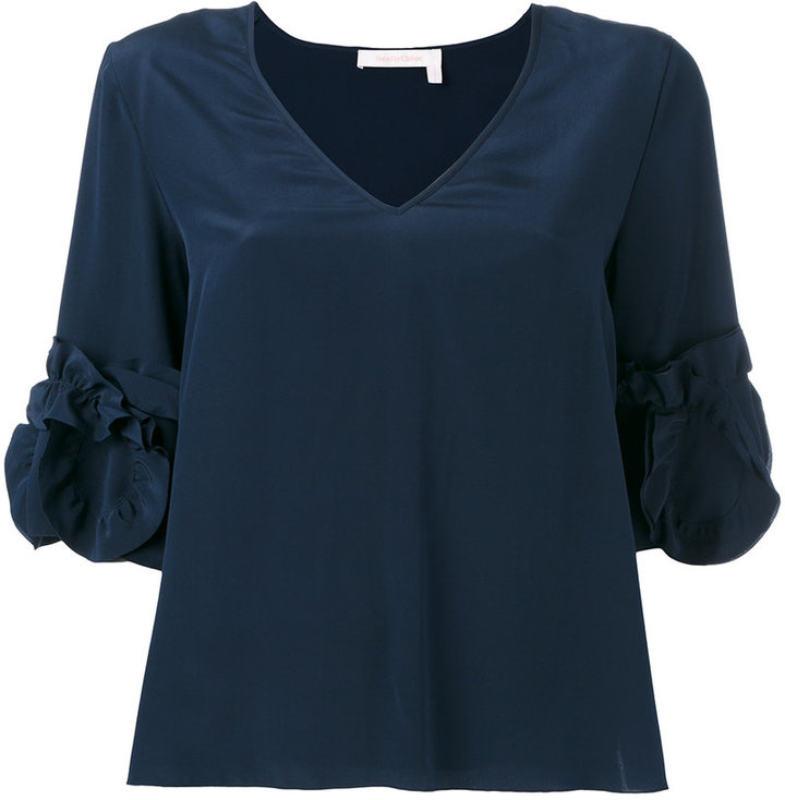See By Chloe See By Chloé frilled sleeve top