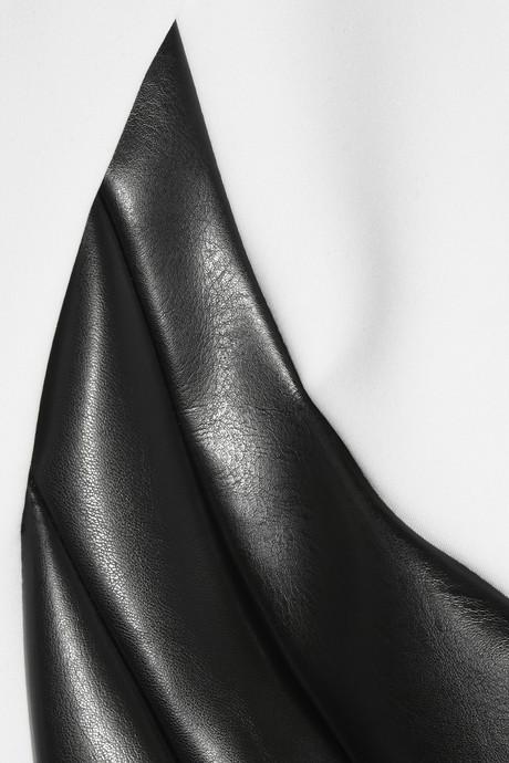 Altuzarra Baxter stretch-jersey crepe and faux leather dress