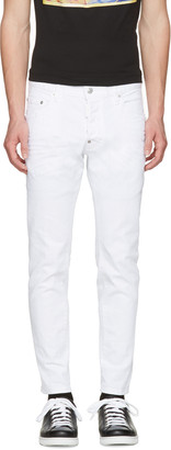 Dsquared2 White Skater Jeans $465 thestylecure.com