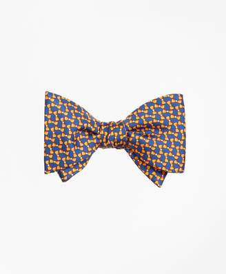 Brooks Brothers Bow Tie Motif Bow Print Tie