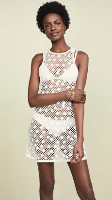 e128cfce515 Caroline Constas Sleeveless Crochet Cover UP