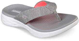 Skechers Women On The Go 600 - Preferred Athletic Thong Flip Flop Sandals from Finish Line