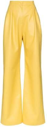 Matériel high waisted wide leg faux leather trousers