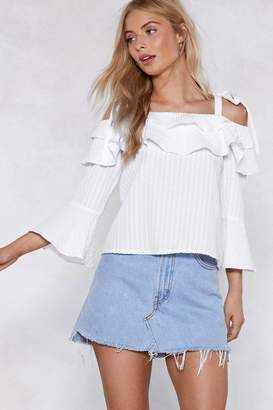 Nasty Gal Tier It Up Cold Shoulder Top