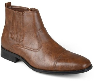 Territory Men's Cap Toe Faux Leather Dress Boots