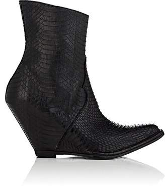 Taverniti So Ben Unravel Project Women's Snakeskin Wedge Ankle Boots