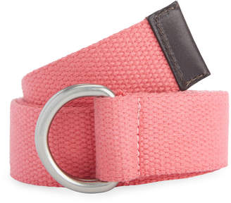 Vineyard Vines Solid Canvas D-Ring Belt