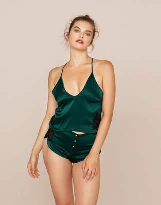 Agent Provocateur Anais Camisole Green and Black