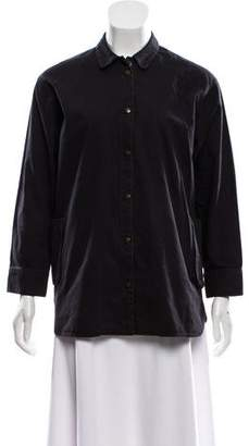 MAISON KITSUNÉ Button-Up Three-Quarter Sleeve Top