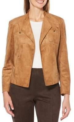 Rafaella Faux Suede Peak Jacket