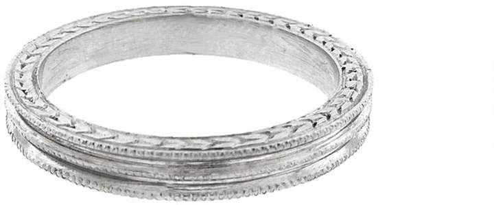 Cathy WatermanCathy Waterman Triple Milgrain Ring - Platinum