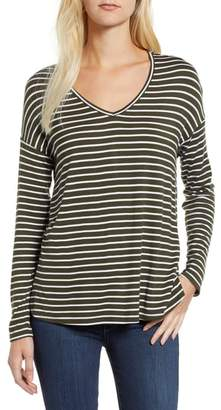 Gibson V-Neck Stripe Top