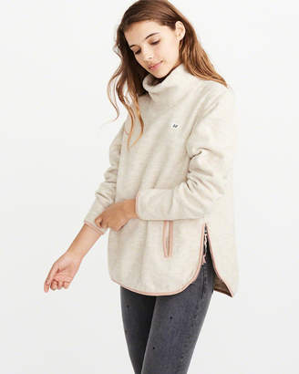 Abercrombie & Fitch Cowl Neck Sherpa Pullover