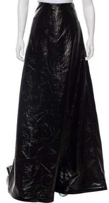 Rosie Assoulin Faux-Leather Maxi Skirt w/ Tags Black Faux-Leather Maxi Skirt w/ Tags