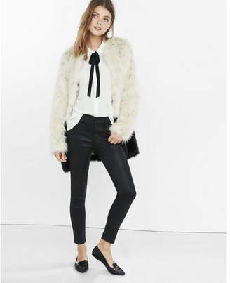 Express color block faux fur coat $278 thestylecure.com