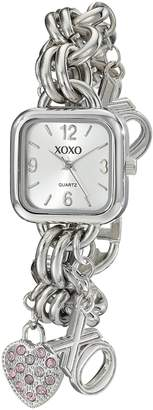 XOXO Women's Dial Tone Charm Bracelet Watch XO7027