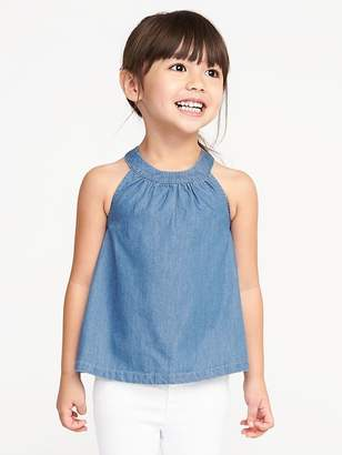 Old Navy High-Neck Chambray Tank for Toddler Girls