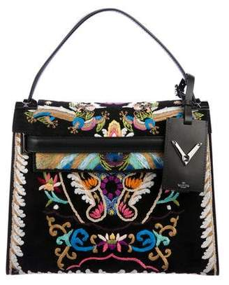 Valentino Embroidered My Rockstud Top Handle Bag