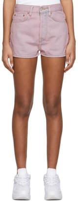Acne Studios Pink Bla Konst Denim Ren Shorts