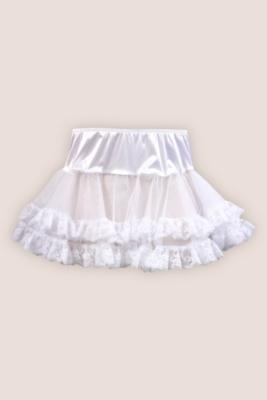 White Mesh and Lace Petticoat