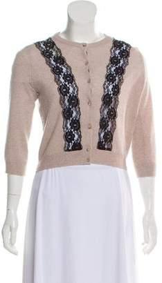 Autumn Cashmere Lace-Accented Cashmere Sweater
