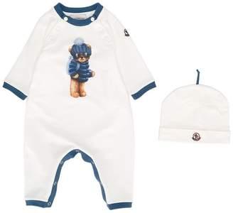 Moncler bear print babygrow set