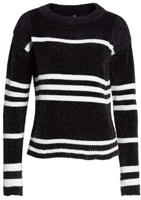 Love By Design Chenille Stripe Knit Sweater