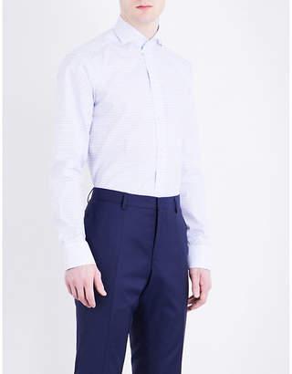 Eton Slim-fit floral-print cotton-poplin shirt