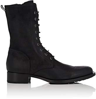 Buttero Men's Waxed Suede Lace-Up Boots