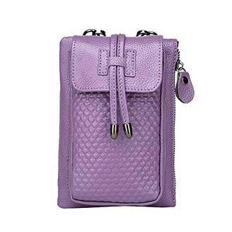 Women's Small Cellphone Purse Wallet Genuine Leather Crossbody Shoulder Pouch Bag