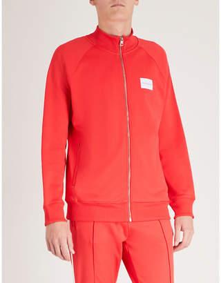 CK Calvin Klein Logo-patch cotton-blend jacket