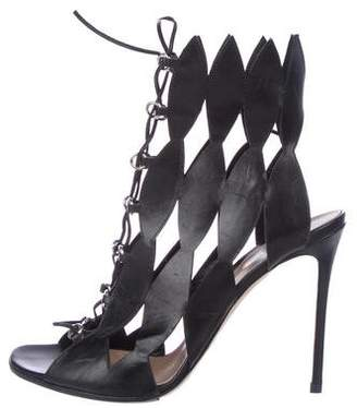 Gianvito Rossi Laser-Cut Lace-Up Sandals