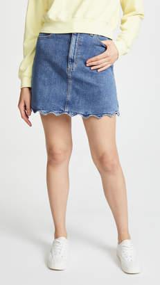 Joe's Jeans Bella Skirt with Wavy Hem