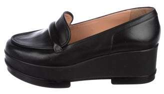 Robert Clergerie Leather Platform Loafers