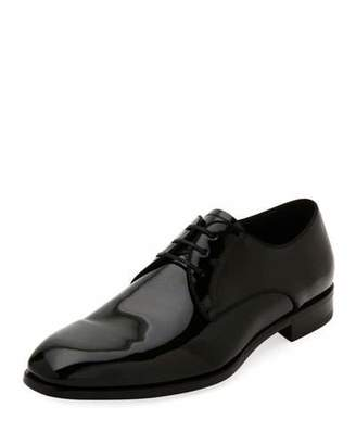 Salvatore FerragamoMen's Aiden Patent Leather Tuxedo Oxford Shoes