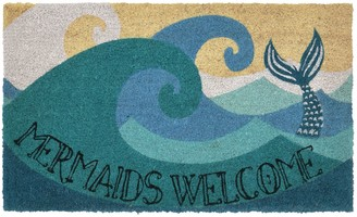 Liora Manné Natura ''Mermaids Welcome'' Indoor Outdoor Coir Doormat - 18'' x 30''
