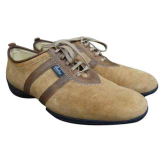 Paraboot Beige Suede Lace ups