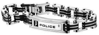Police Men Stainless Steel Charm Bracelet - PJ24919BSB.01-L